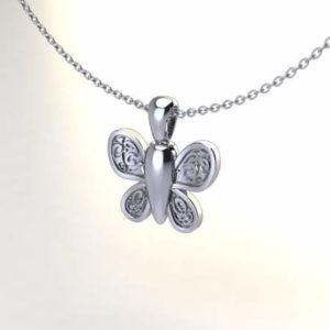 colgante para cenizas Mariposa