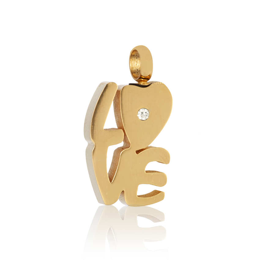 colgante para cenizas de mascota de oro