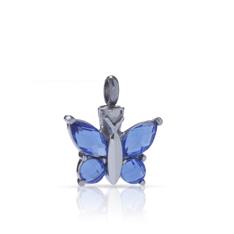 Colgantes para cenizas mariposa azul