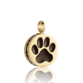 joyas para cenizas de mascota de oro