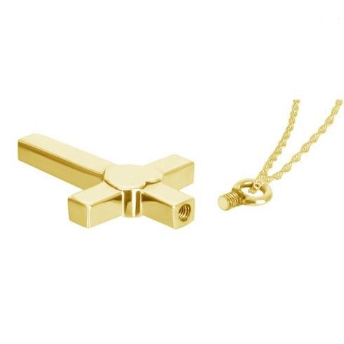 Joyas para cenizas de oro doblado.