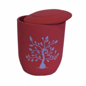 urna biodegradable arbol de vida rojo