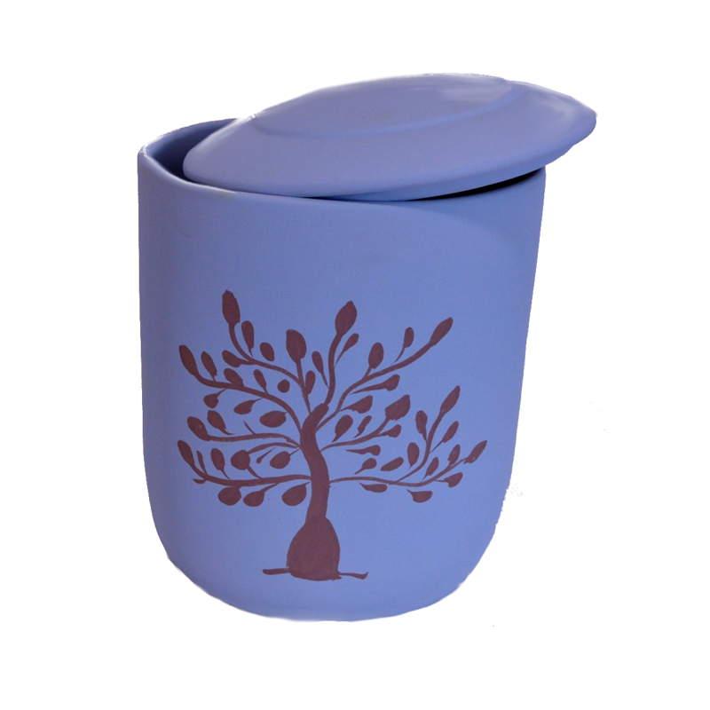 urna funeraria arbol de vida azul