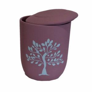 urna biodegradable arbol de vida morado