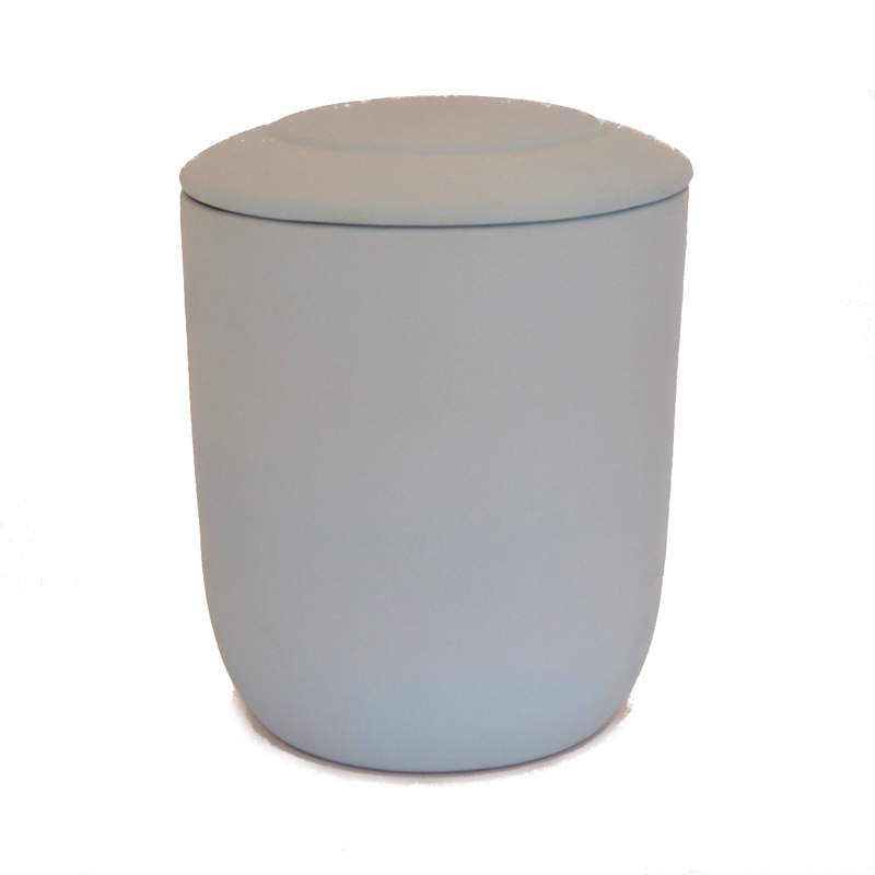 Urna para cenizas biodegradable blanca
