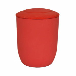 urna para cenizas biodegradable roja