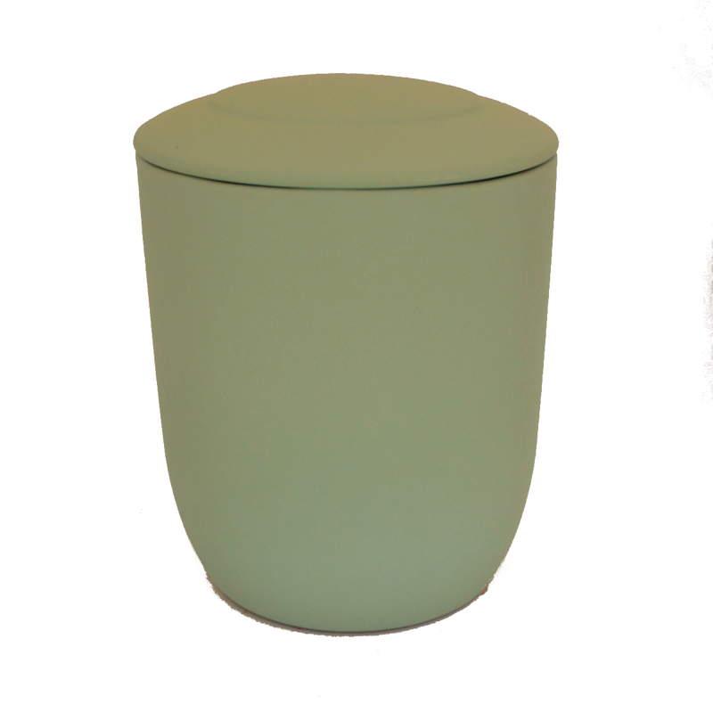 Urna para cenizas biodegradable verde